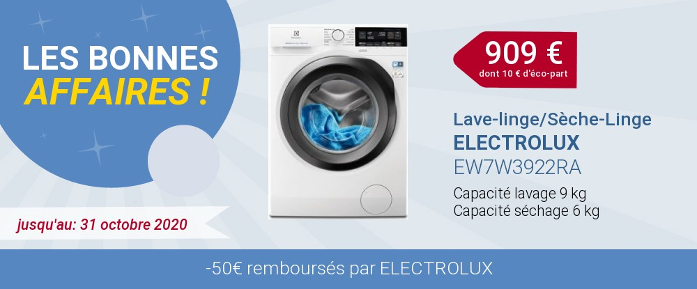 OFFRE ELECTROLUX LAVAGE