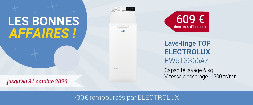 OFFRE LAVAGE ELECTROLUX