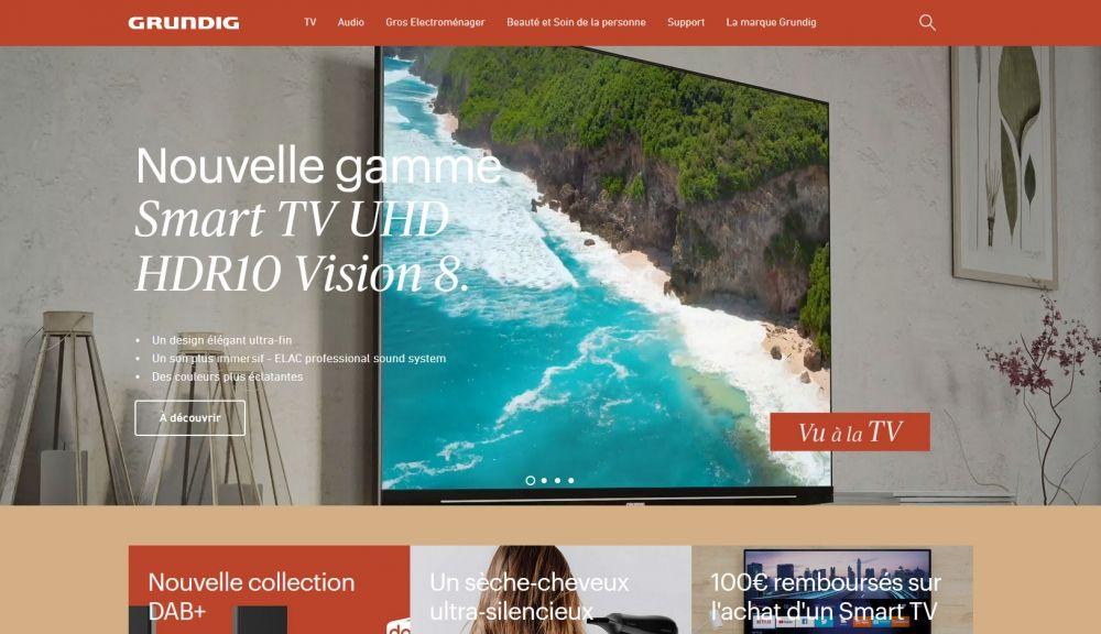 GRUNDIG TV FETE SES 75ANS